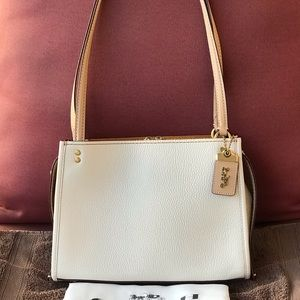 Coach 1941 Rogue Shoulder Bag Chalk/Brass NWT